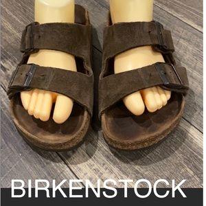 Authentic Birkenstock suede leather sandals Sz 9